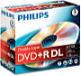 Philips - Média DVD Disk - Philips 8,5Gb 8x DVD+RDL, 1 db-os