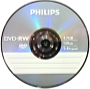 Philips - Média DVD Disk - Philips 4,7Gb 4x DVD-RW, normál tokos