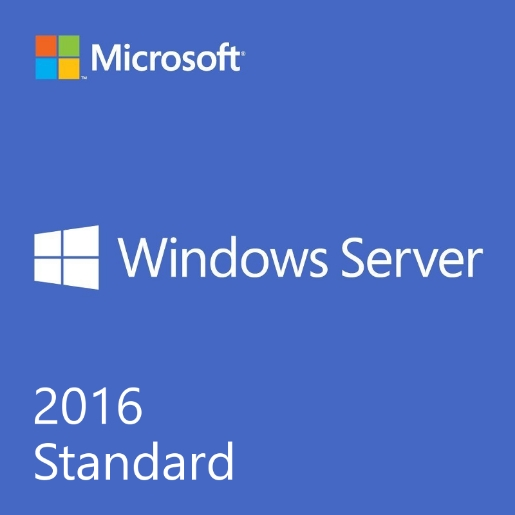 Dell - Software Microsoft - Microsoft OEM Windows Server 2016 Standard 64Bit 16 core, angol