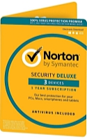 Symantec - Software AntiVirus - Symantec Norton Security Deluxe 3.0 HU 1U 3Dev 1Y